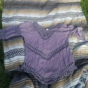 Tops - Crochet hippie summer cover up/ shirt